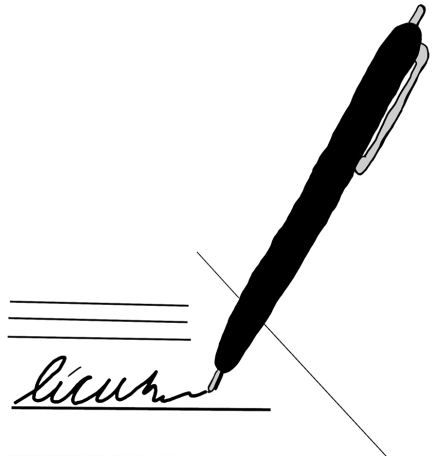 signing paper