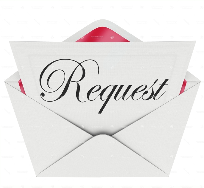 Request Envelope Word Note Letter Asking for Help